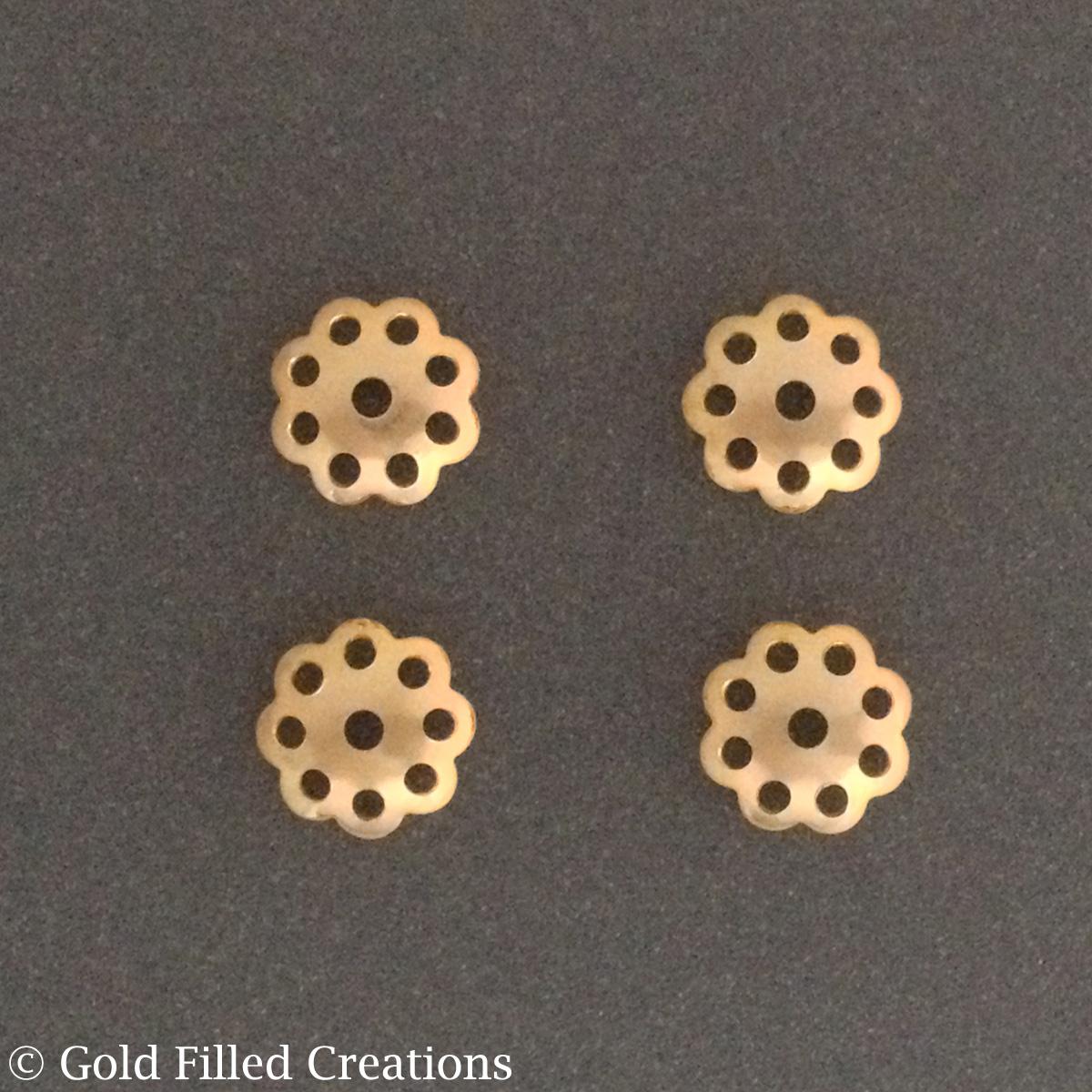 Gold Bead Caps flower