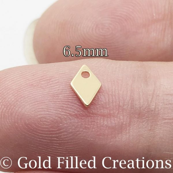 Gold Filled Tiny Diamond Charms