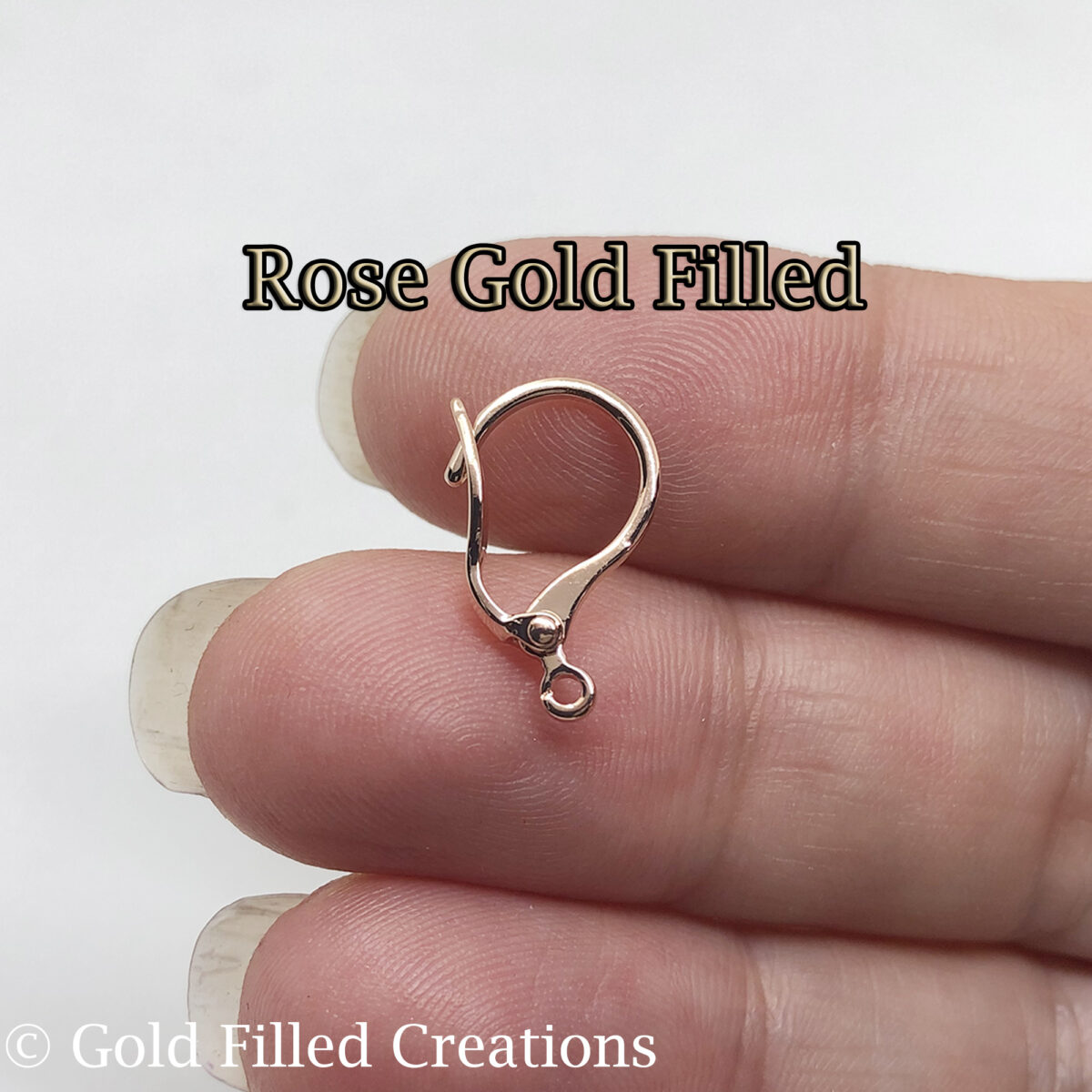 Rose Gold leverback earrings