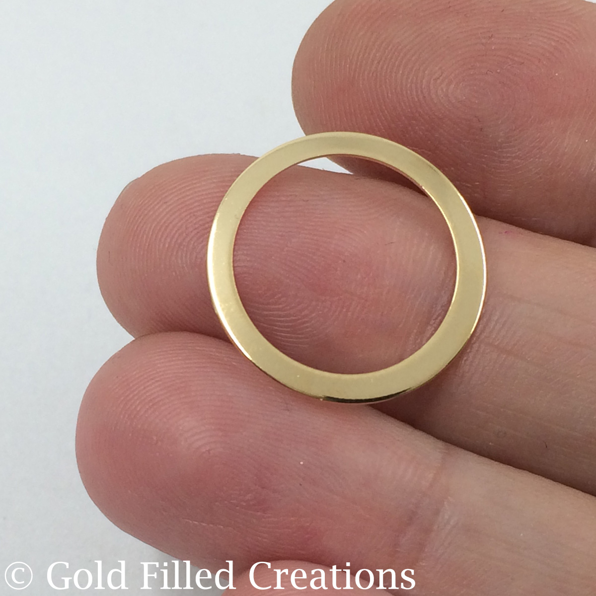 Gold filled circle connector round