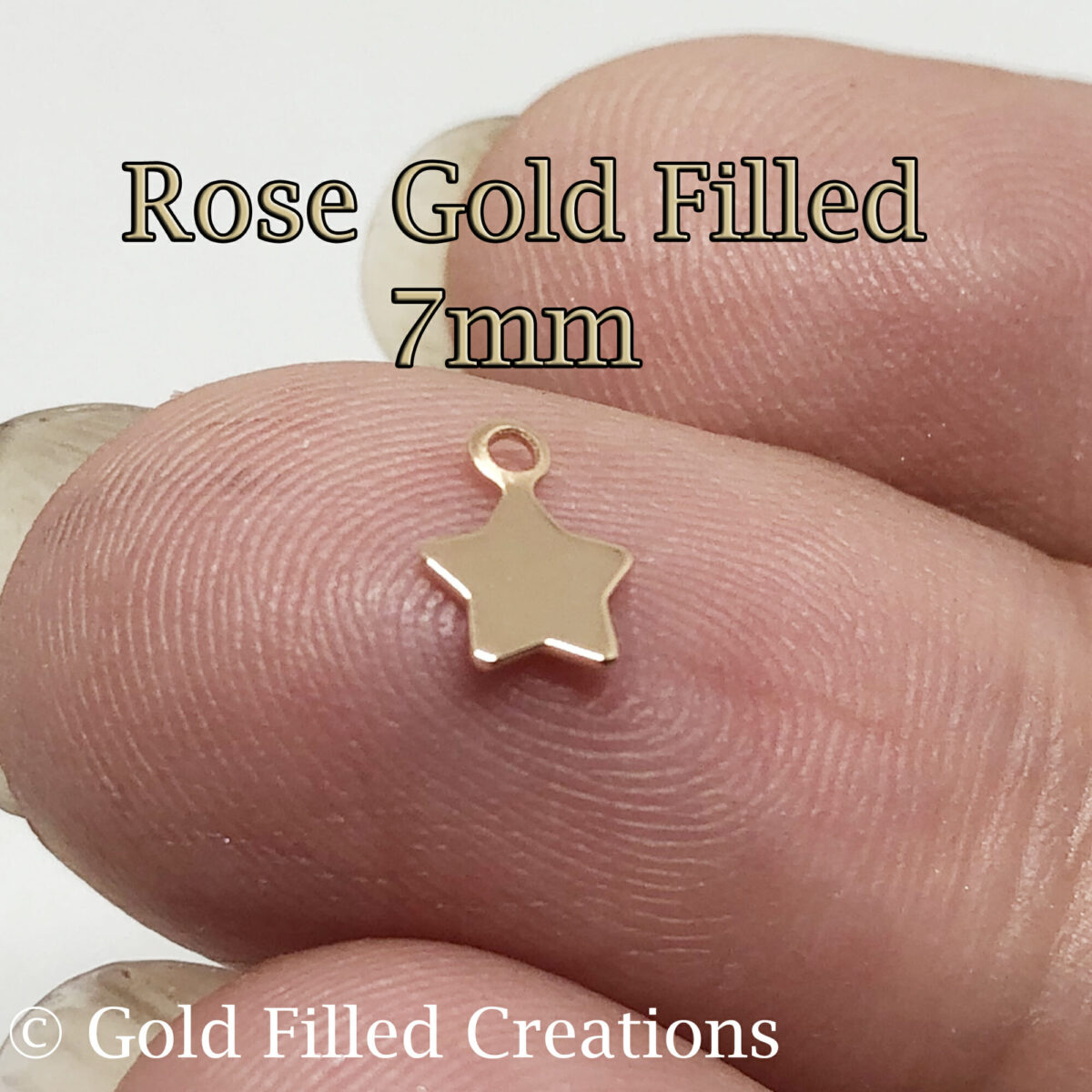 Rose Gold Filled Tiny Star Charms