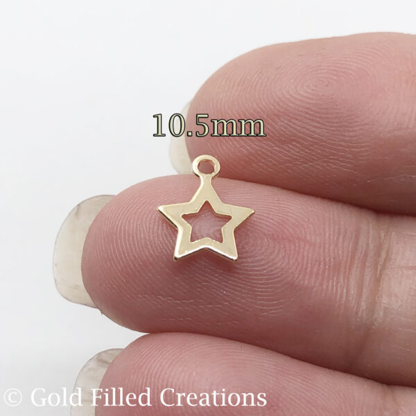 Gold Filled Star Charms Pendant