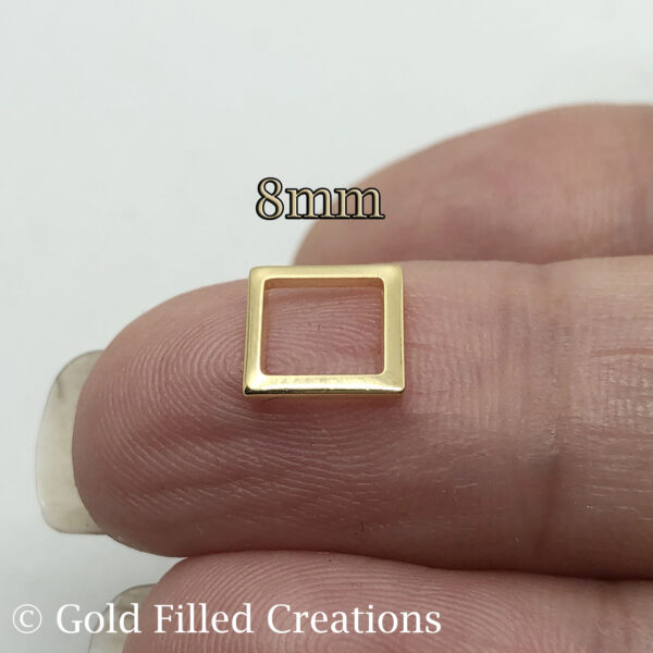 Gold Square Charms
