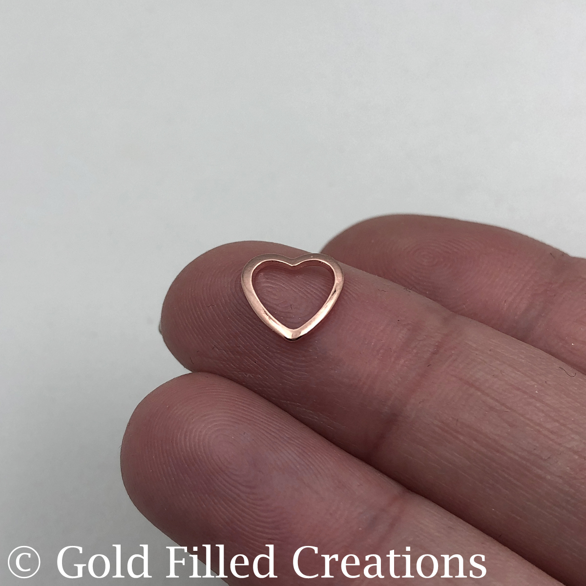 Rose Gold Heart charms