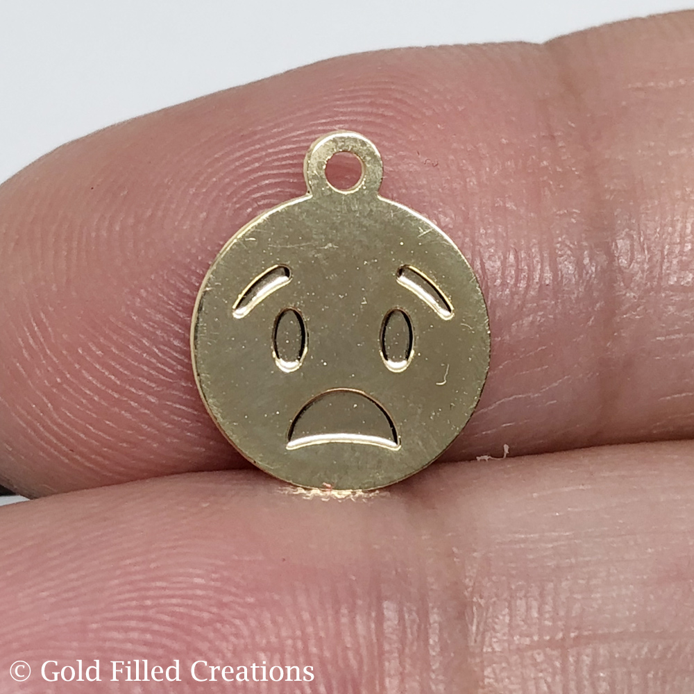 gold emoticon charms
