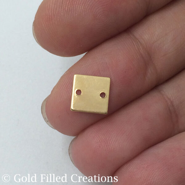 Gold Filled Square Tag Stamping Blank Connectors