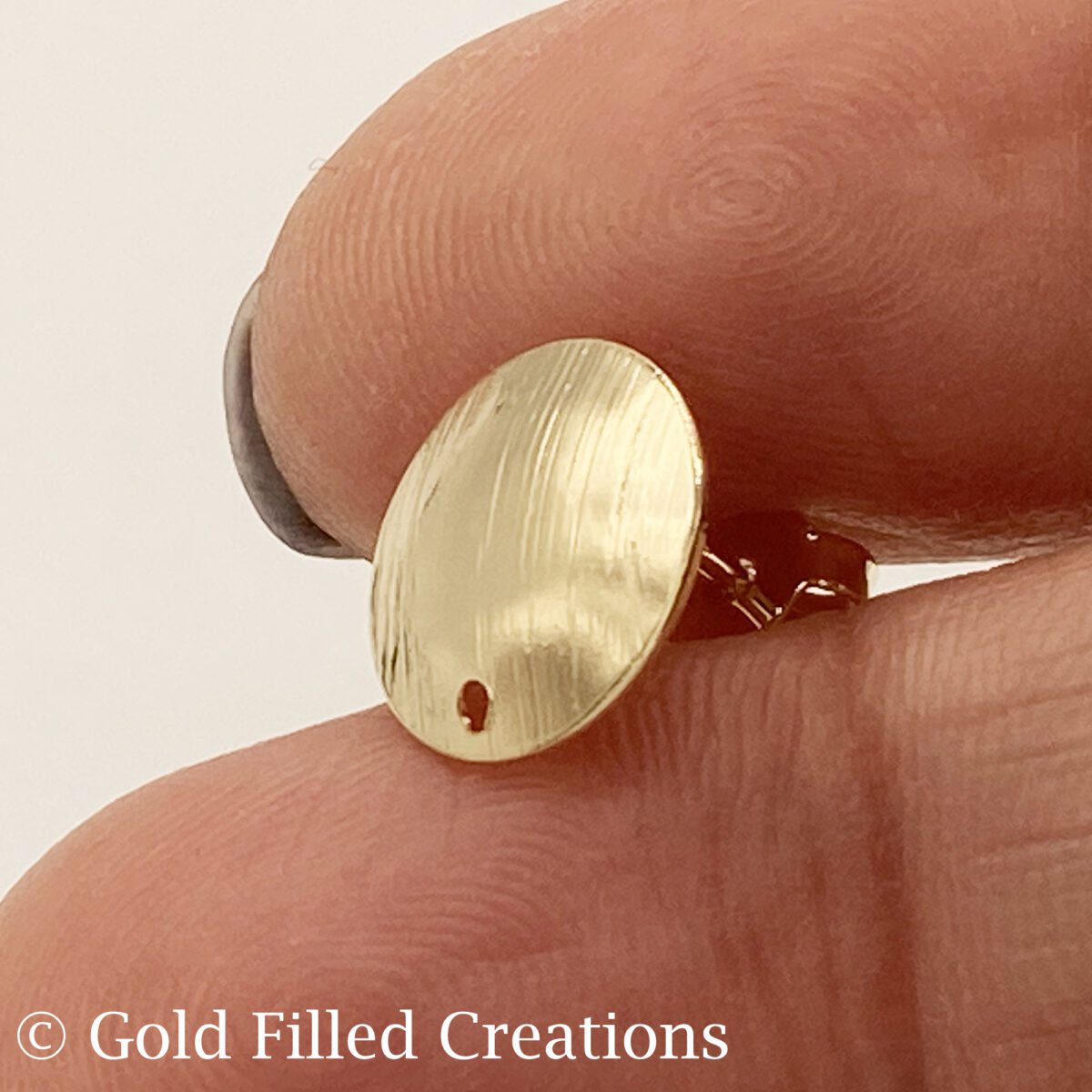Gold Filled Studs Round Earrings 11mm