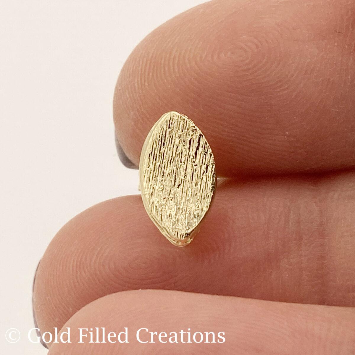 Gold Filled Oval Earrings Teardrop Studs