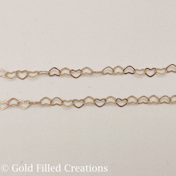 rose gold filled chain Heart