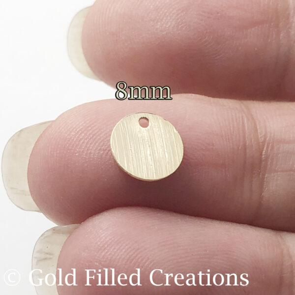 gold fill Textured Round Stamping Blanks ,