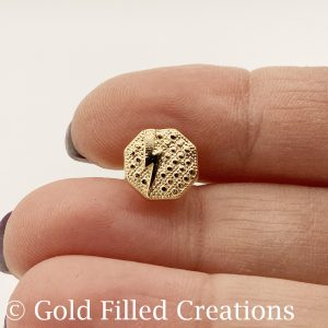 Gold Filled Octagon Stud Earrings