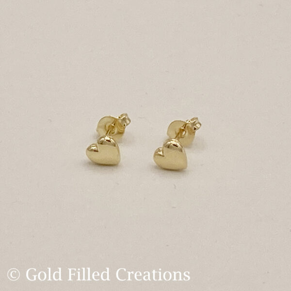gold Tiny Heart Stud