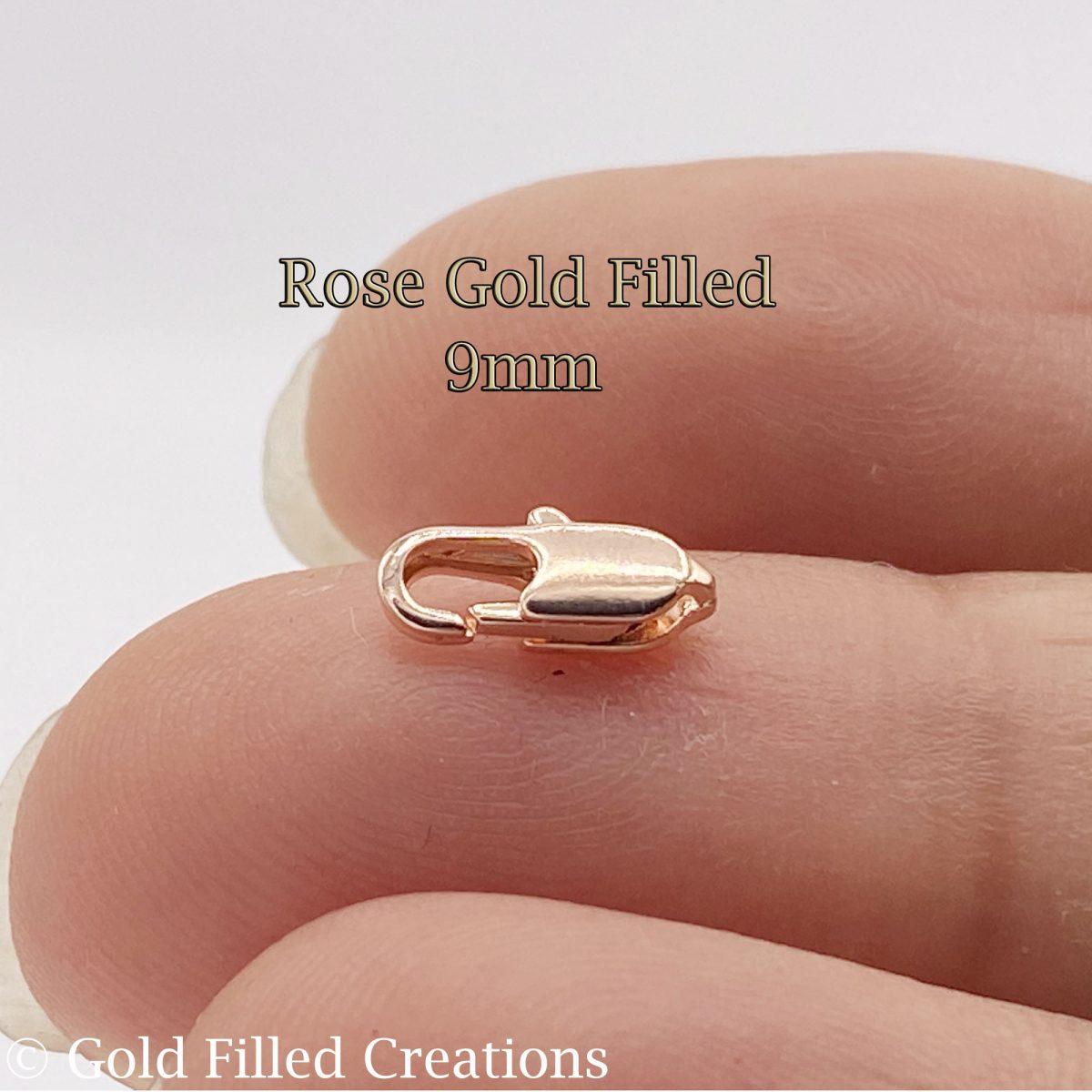 Rose Gold filled lobster clasp