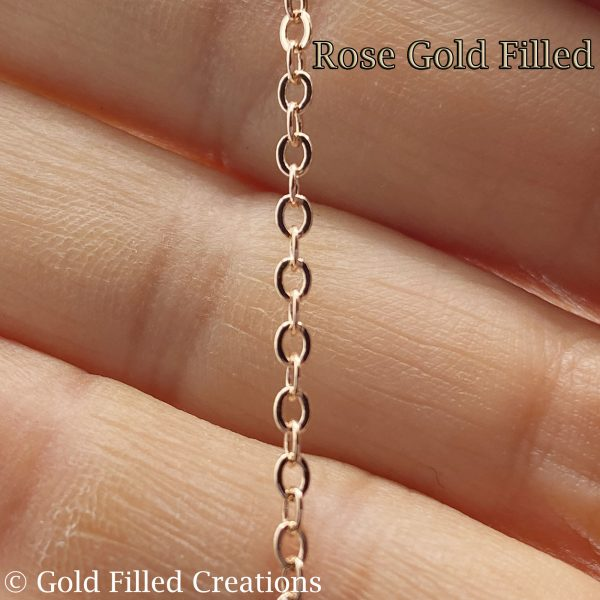 Rose Gold Filled Flat Cable chain